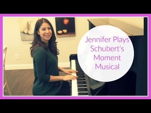 Jennifer Plays Moment Musical (Schubert)