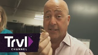 Bizarre Foods: Andrew Zimmern Eats Insect-Filled Nuggets