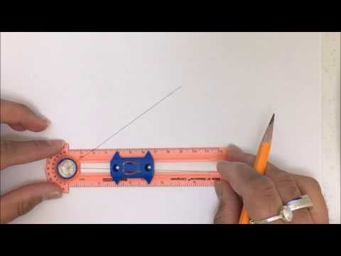 Constructions: the bisector of a given angle