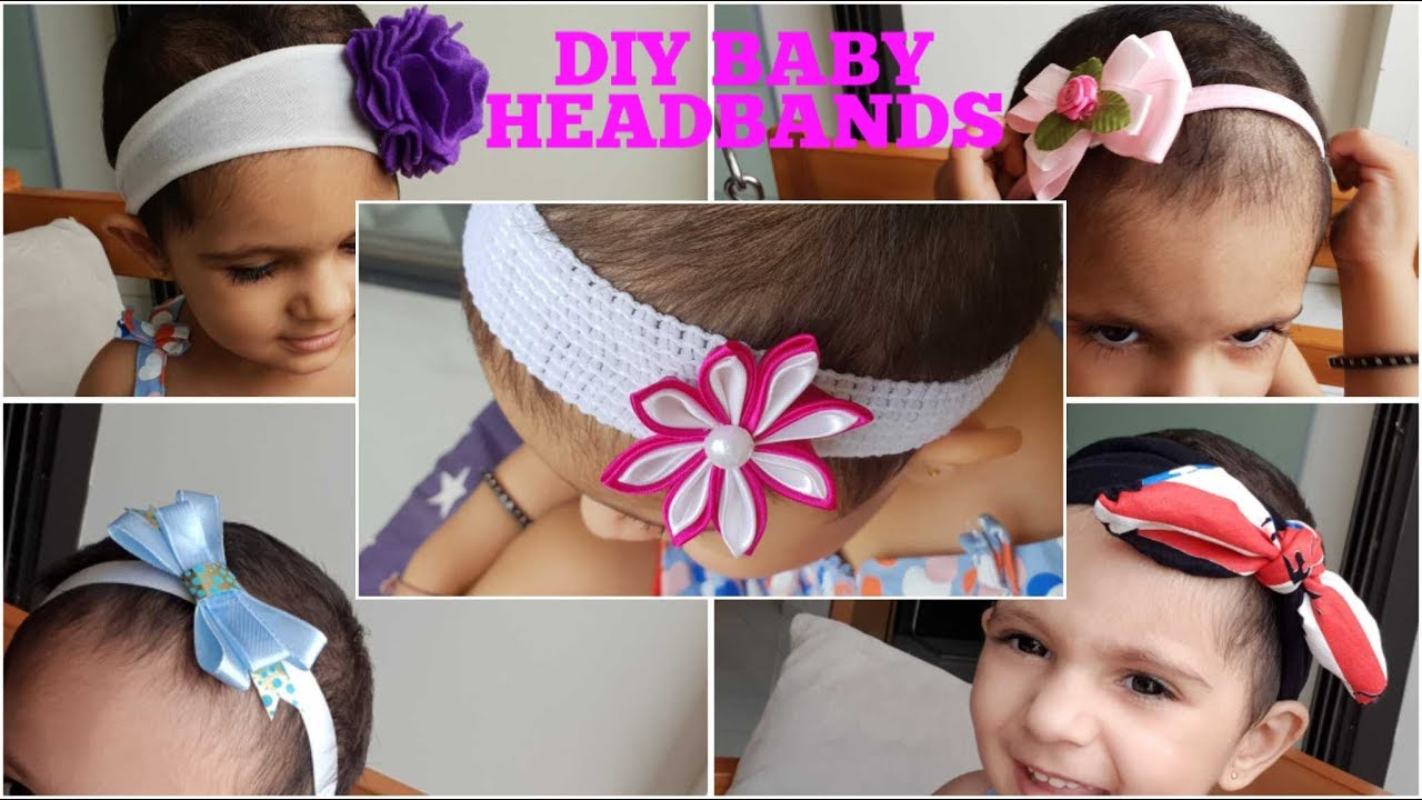 DIY Designer Baby and toddler Headbands at Home  08215e94a22
