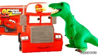 T-REX Dinosaur Stop Motion Play Doh Playtime for Children Kids Fun Pretend dinosaurs Johny Papa John