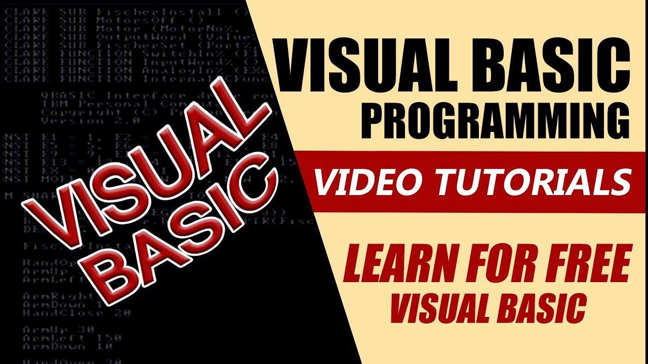 visual studio basic tutorial pdf