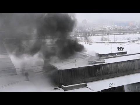 Что известно о пожаре в здании типографии на Ленинском проспекте
