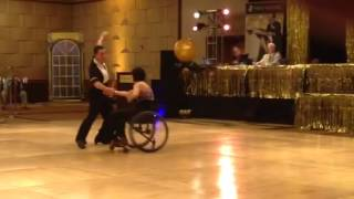 Quadriplegic wows crowd at ballroom dancing competition