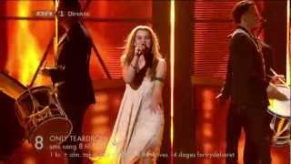 Repeat youtube video 08 -Emmelie De Forest - Only Teardrops (Dansk Melodi Grand Prix 2013)