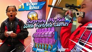 surprising my kids with fortnite llamas