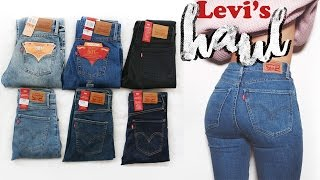 One of LLimWalker's most viewed videos: Haul - Try on Levi's Jeans, 501's, Mile High etc | LLimWalker