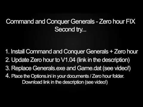 C&C Generals / Zero hour Fix for Windows 10 (TEST!!!)