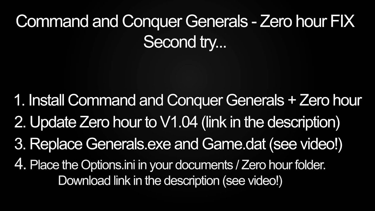 command and conquer generals zero hour v1 04 patch