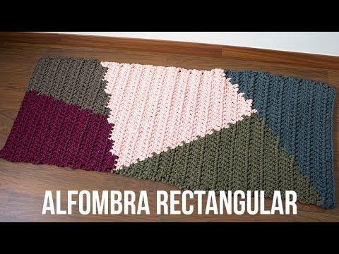 Alfombra de trapillo rectangular de tapestry youtube - Como hacer alfombras de trapillo trenzadas ...