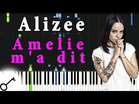 Alizee - Amelie M'a Dit [Piano Tutorial] Synthesia | Passkeypiano