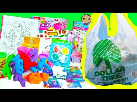 Super Dollar Tree Store Haul - $1 Toys + Crafts from Disney Pixar Finding Dory, Playdoh