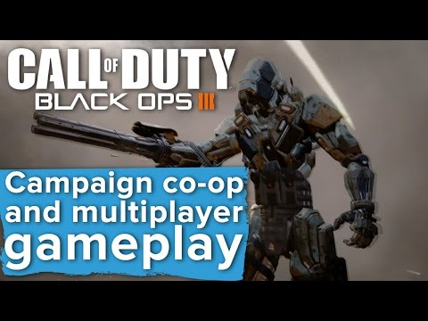 Black Ops 3 Campaign Co-op and Multiplayer gameplay - E3 2015 Sony Conference