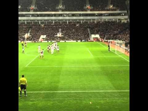Mauro Zarate Free Kick - West Ham v West Brom - BPL 29.11.15