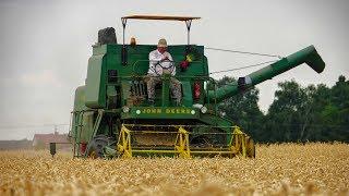 Polskie Żniwa w Świętokrzyskim 2019 John Deere 530  1080p60  Pszenica Wheat Harvest