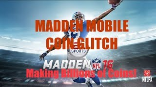 MADDEN MOBILE 16 CRAZY COIN GLITCH?!?! (BILLIONS OF COINS WITH BRUCE SMITH PULL!)