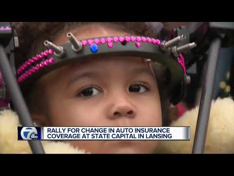 Rally For Change In Auto Insurance Coverage At State Capital In Lansing