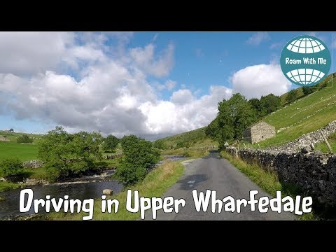 DRIVING IN YORKSHIRE DALES, BUCKDEN TO HAWES