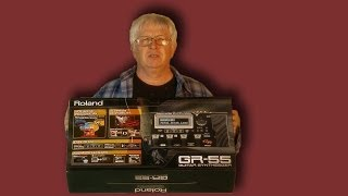 Unboxing Roland GR 55 latest version Guitar Synthesizer Black