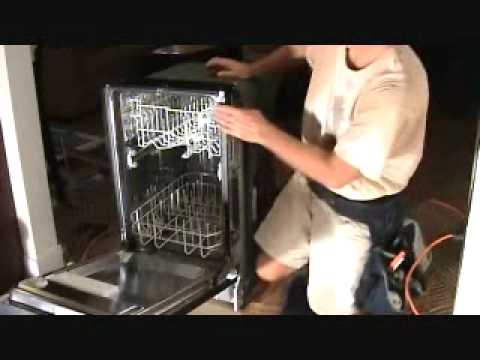 adjusting a dishwasher height to fit the opening on a new install youtube. Black Bedroom Furniture Sets. Home Design Ideas