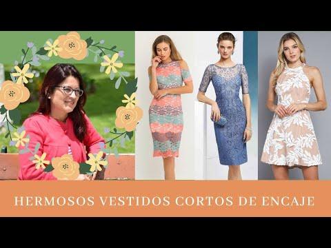 Vestidos Cortos De Encaje Youtube