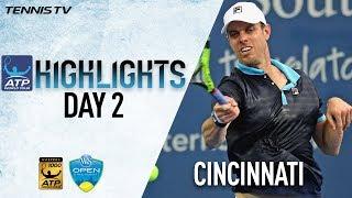 Highlights: Querrey, Tiafoe & Fognini Advance In Cincinnati 2017 On Monday