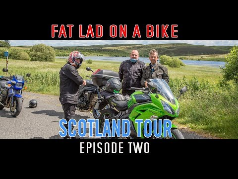 Ep 2 Motorcycle Tour of Scotland GPX map included Fat Lad on a Bike