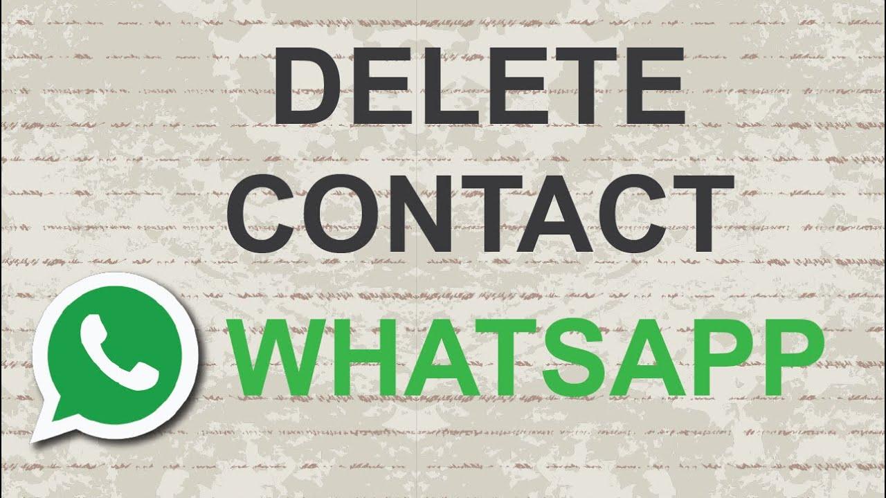 How to delete Whatsapp contact