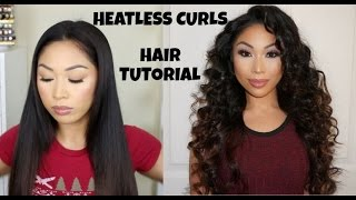 HEATLESS CURLS HAIR TUTORIAL