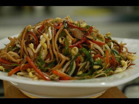 StirFried Noodles With Vegetables And Sprouts  YouTube