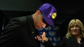 Lonzo Ball Speaks with Magic Johnson After Being Drafted By Lakers thumbnail