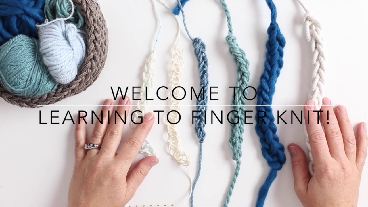20 Gorgeous Finger Knitting Projects How To Finger Knit Video Flax Twine