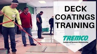tremco s deck coatings training
