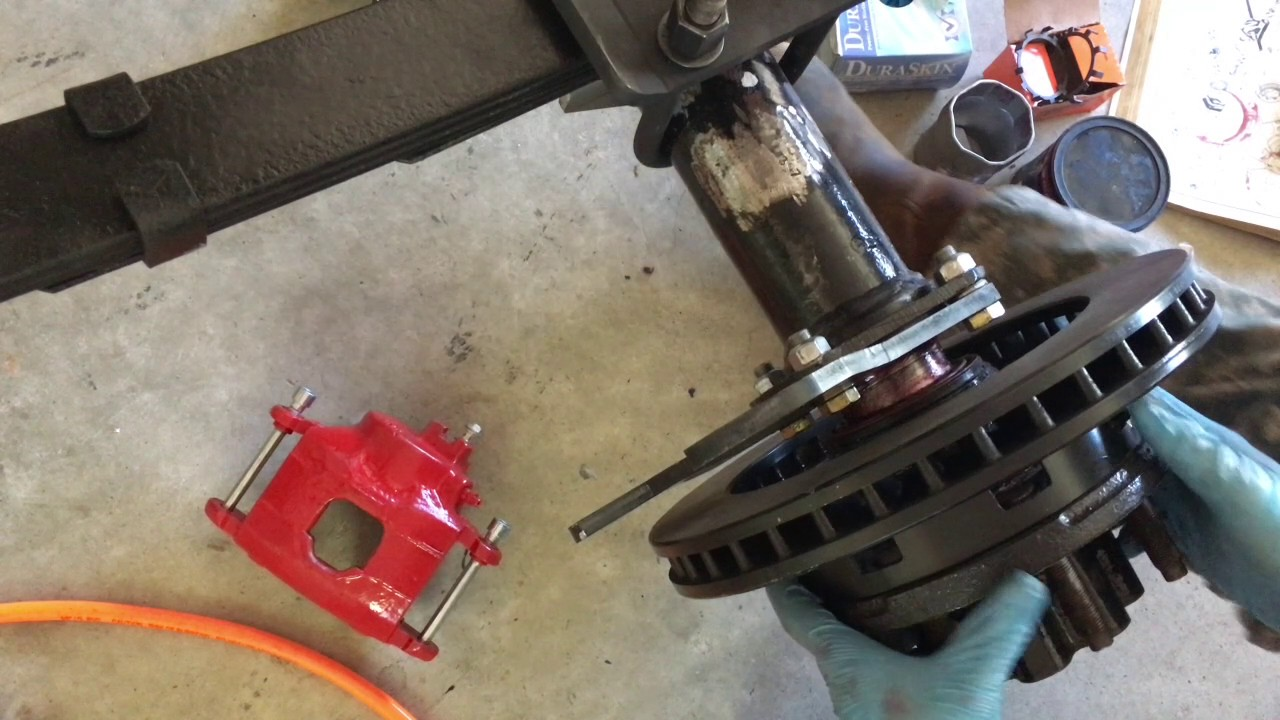 Ford Rear Dana 60 Disc Brake Conversion Hub Rotor Install Lugnut4x4