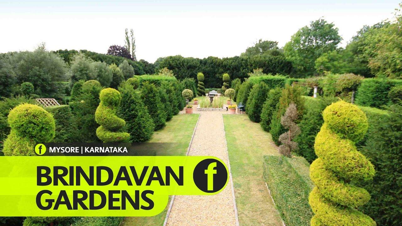 Brindavan Gardens Mysore Karnataka Tourism YouTube