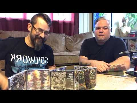 Unboxing the Gravehuffer NecroEclosion CDs.