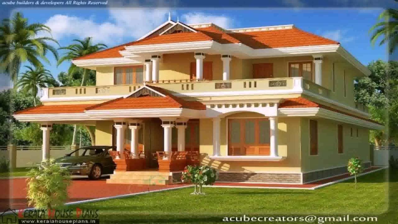 Kerala Style Courtyard House Youtube