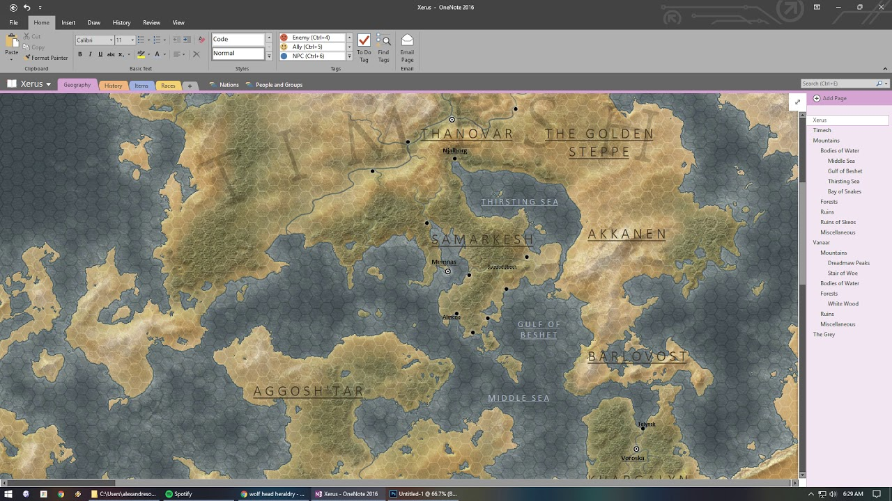 Using OneNote to make an interactive DnD campaign map! - YouTube on