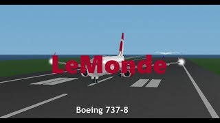 LeMonde Airlines | Boeing 737-8 | Roblox