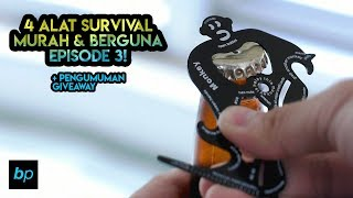 4 ALAT SURVIVAL SUPER BERGUNA & MURAH! + PENGUMUMAN GIVEAWAY Unboxing & Review INDONESIA | BUKAPAKET