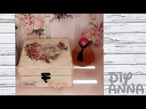 decoupage vintage wooden box