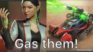 Command And Conquer: Rivals JADE CATALYST MISSLE TIBERIUM GAS BASE RUSH STRATEGY