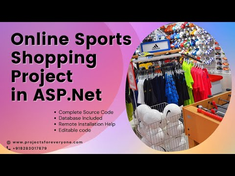 Online Sports Shopping Website Project in ASP.Net with C#.Net and Sql Server