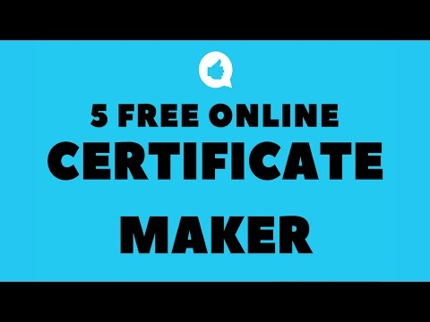 5 Best Free Online Certificate Maker