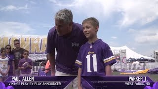Young Vikings Fan Does Play-by-Play