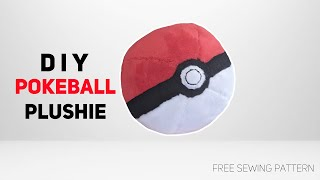 How to Make a Pokeball Plushie [Free Pattern]