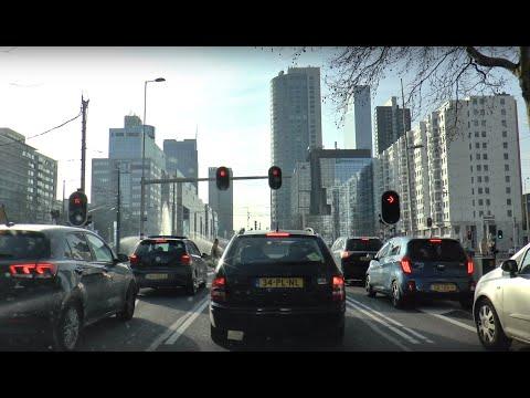 A drive Downtown Rotterdam