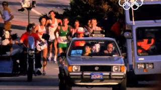 Carlos Lopes Comes Back To Win Marathon Gold - Los Angeles 1984 Olympics