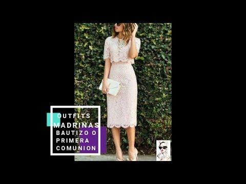 Vestidos para madrinas de primera comunion 2019