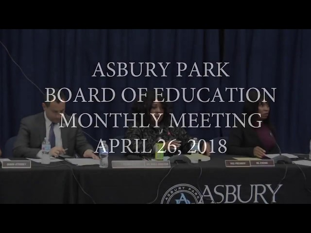 Asbury Park Board of Education - April 26, 2018